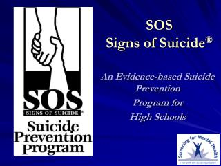 SOS  Signs of Suicide