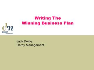 Writing The  Winning Business Plan