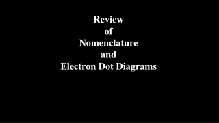 NOMENCLATURE and Chem Review