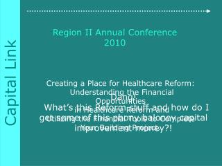 Region II Annual Conference 2010