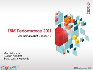 Upgrading to IBM Cognos 10