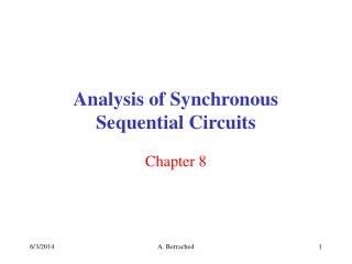 Analysis of Synchronous Sequential Circuits