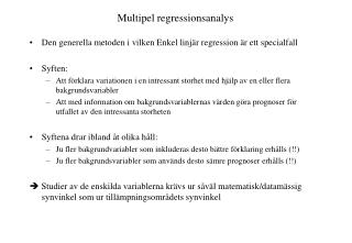 Multipel regressionsanalys
