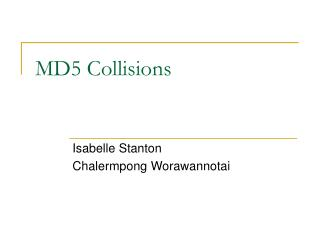 MD5 Collisions