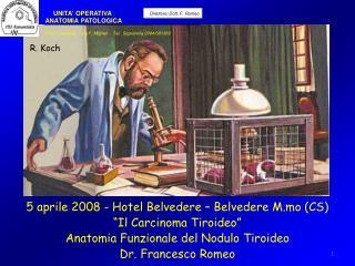 5 aprile 2008 - Hotel Belvedere   Belvedere M.mo CS  Il Carcinoma Tiroideo  Anatomia Funzionale del Nodulo Tiroideo Dr.