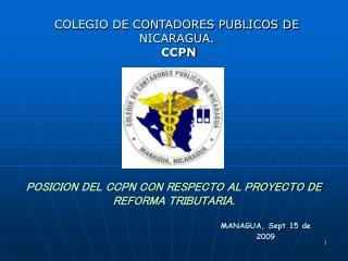 POSICION DEL CCPN CON RESPECTO AL PROYECTO DE REFORMA TRIBUTARIA.