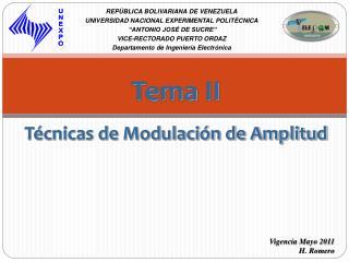 Tema II T cnicas de Modulaci n de Amplitud