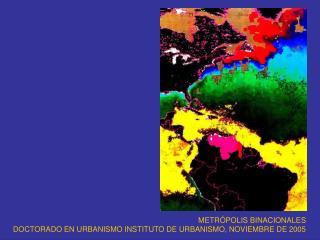 METR POLIS BINACIONALES DOCTORADO EN URBANISMO INSTITUTO DE URBANISMO, NOVIEMBRE DE 2005