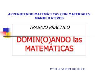 APRENDIENDO MATEM TICAS CON MATERIALES MANIPULATIVOS