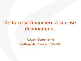 De la crise financi