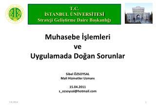 T.C. ISTANBUL  NIVERSITESI Strateji Gelistirme Daire Baskanligi