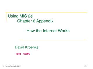 Ch 6 Appendix Power Point Presentation