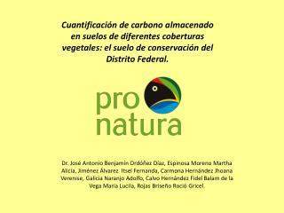 Cuantificaci n de carbono almacenado en suelos de diferentes coberturas vegetales: el suelo de conservaci n del Distrito