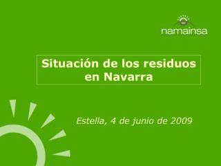 Situaci n de los residuos en Navarra