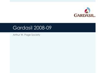 Gardasil 2008-09