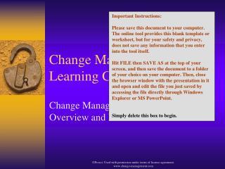 Change Management Learning Center