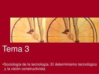 Tema 3   Sociolog a de la tecnolog a. El determinismo tecnol gico    y la visi n constructivista