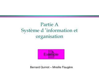 Partie A Syst me d  information et organisation