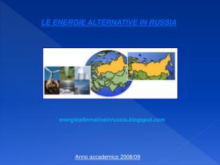 LE ENERGIE ALTERNATIVE IN RUSSIA