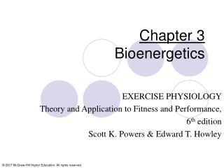 Chapter 3 Bioenergetics
