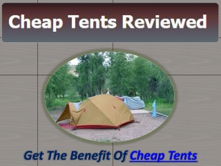 Cheap Tents