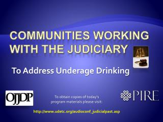 Communities working with the judiciary