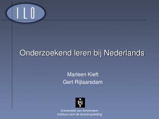 Onderzoekend leren bij Nederlands