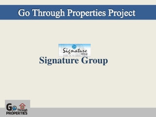 Go Through Properties-Signature Project