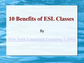 Learn English in New York City