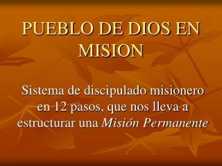 PUEBLO DE DIOS EN MISION