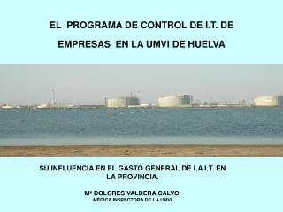 EL  PROGRAMA DE CONTROL DE I.T. DE EMPRESAS EN LA UMVI DE HUELVA