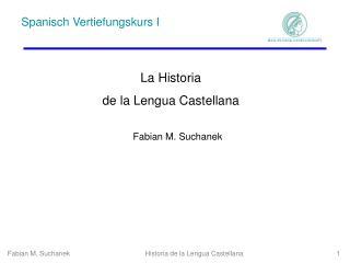 Historia de la Lengua Castellana