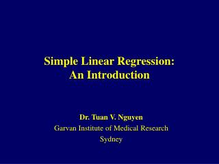 Simple Linear Regression: An Introduction