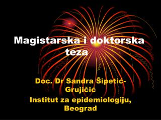 Magistarska i doktorska      teza