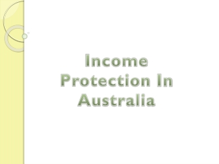 Income Protection in Australia