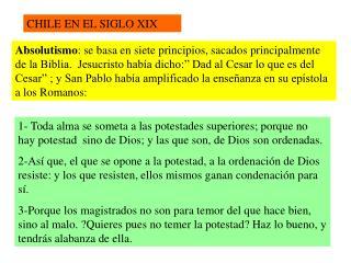 CHILE EN EL SIGLO XIX