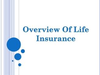 Overview of Life Insurance