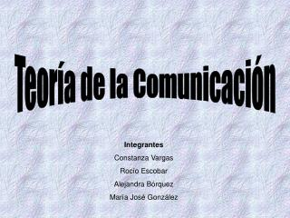 Teor a de la Comunicaci n