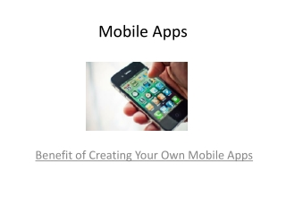 Build  Your Own iPhone Apps or Android Apps