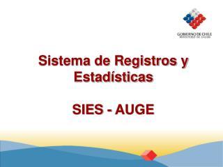 Sistema de Registros y Estad sticas  SIES - AUGE