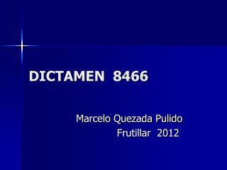DICTAMEN  8466