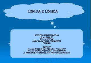 LINGUA E LOGICA