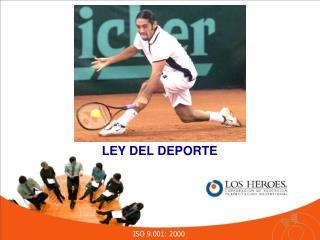 LEY DEL DEPORTE