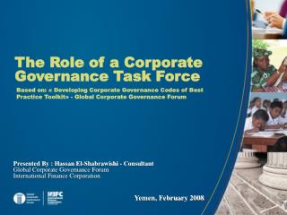 The Role of a Corporate Governance Task Force
