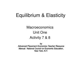 Equilibrium  Elasticity