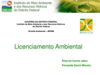 GOVERNO DO DISTRITO FEDERAL Instituto do Meio Ambiente e dos Recursos H dricos  do Distrito Federal   Bras lia Ambiental
