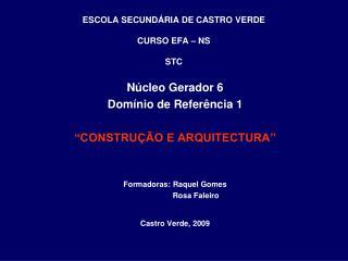 ESCOLA SECUND RIA DE CASTRO VERDE  CURSO EFA   NS  STC