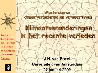 Mastercourse  klimaatverandering en verwoestijning   Klimaatveranderingen in het recente verleden