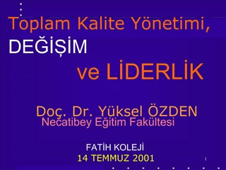 Do . Dr. Y ksel  ZDEN Necatibey Egitim Fak ltesi