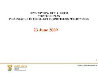 SUMMARY:DPW 2009